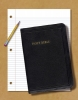 Bible, laying on notepaper